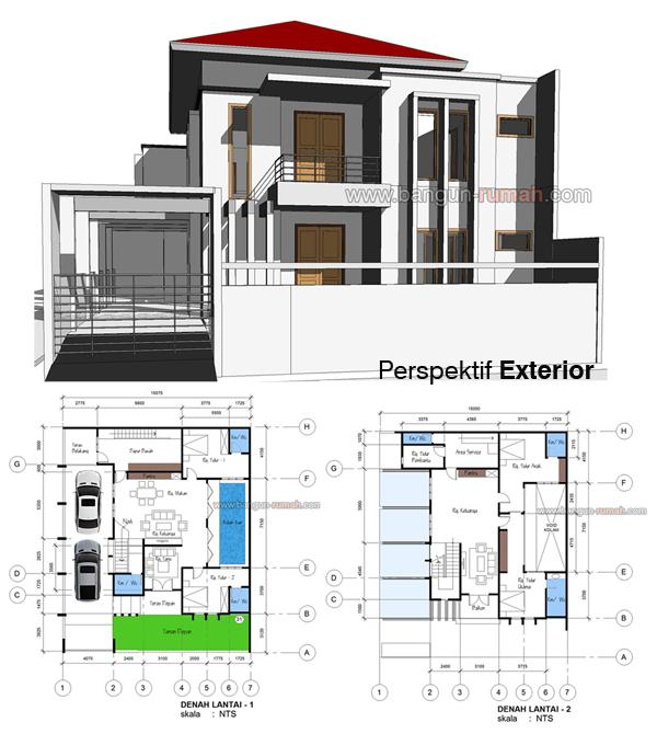 Desain Rumah Hook 15 x 18 M2 Desain Rumah line