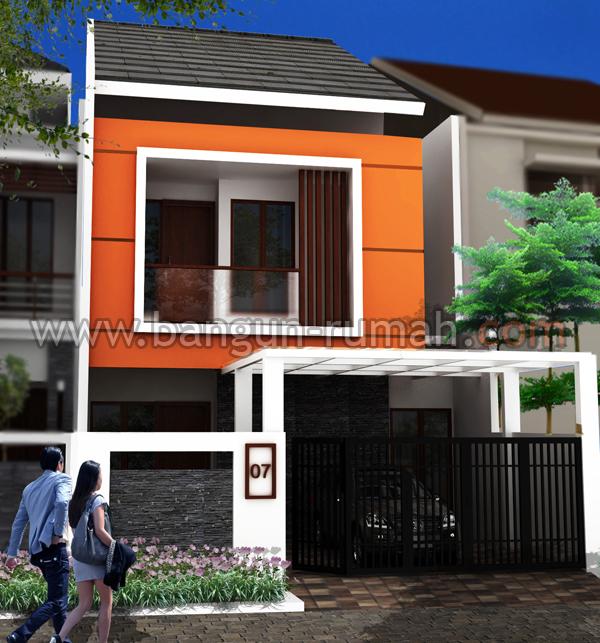 Desain Rumah Minimalis Lebar 5 Meter  desain rumah 2 lantai di lahan 7 x 18 m2 desain rumah online
