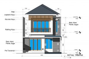 desain rumah 2 lantai ukuran 8 x 15 m2 ~ desain rumah online