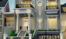 Desain Rumah Klasik 3 Lantai Ukuran 10 x 21 M2