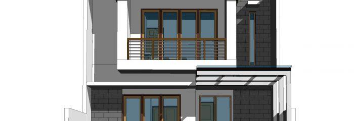 Desain Rumah 2 Lantai Ukuran 8 x 15 M2