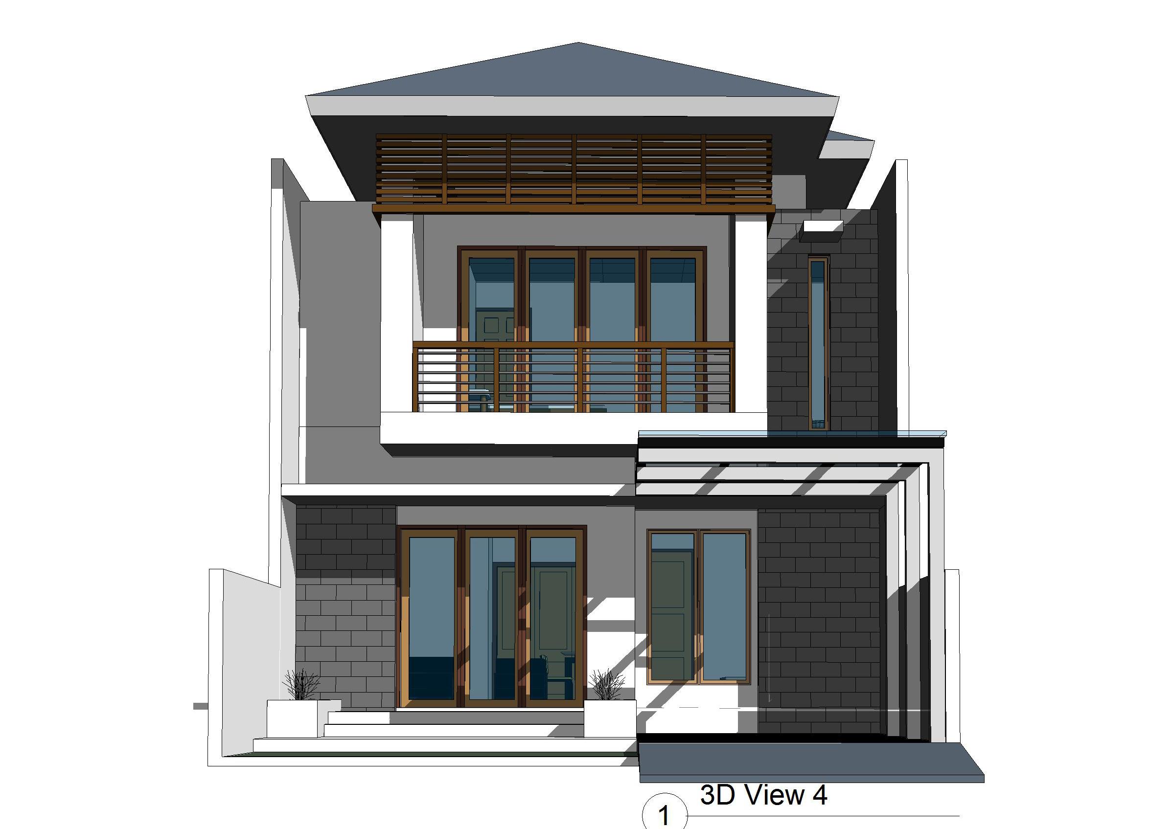 Desain Rumah 2 Lantai Ukuran 8 X 15 M2 Desain Rumah Online