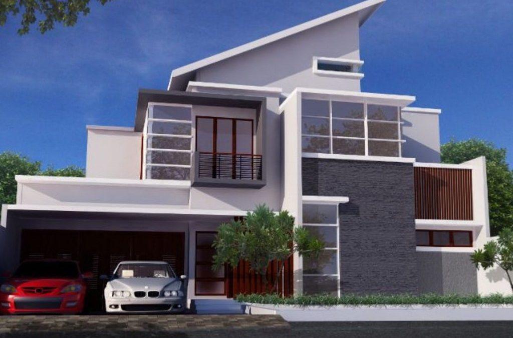 Desain Rumah Kontemporer 2 Lantai Di Lahan 16 x 30 M2