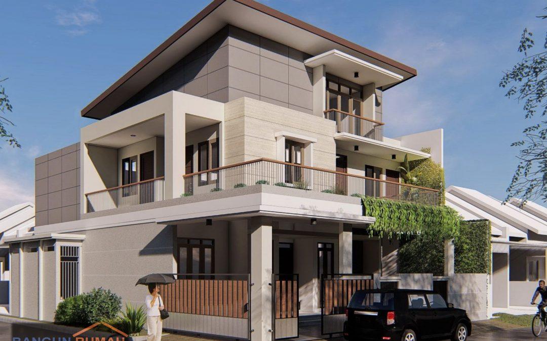 Desain Rumah Minimalis Model Atap 1 Sisi di Duren Sawit Jakarta Timur