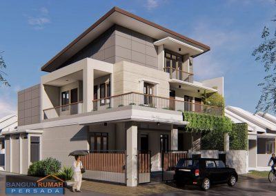 Rumah Minimalis Atap 1 Sisi | Pembuatan Desain Rumah Ibu Elizabeth di Durensawit Jakarta Timur