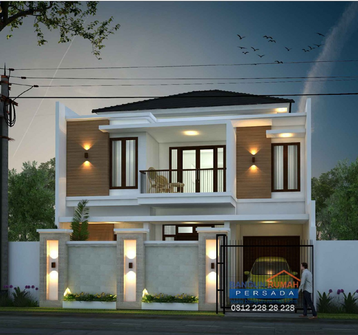 Desain Rumah Minimalis 2 Lantai Di Lahan 10x12 M2 Desain Ini Sudah