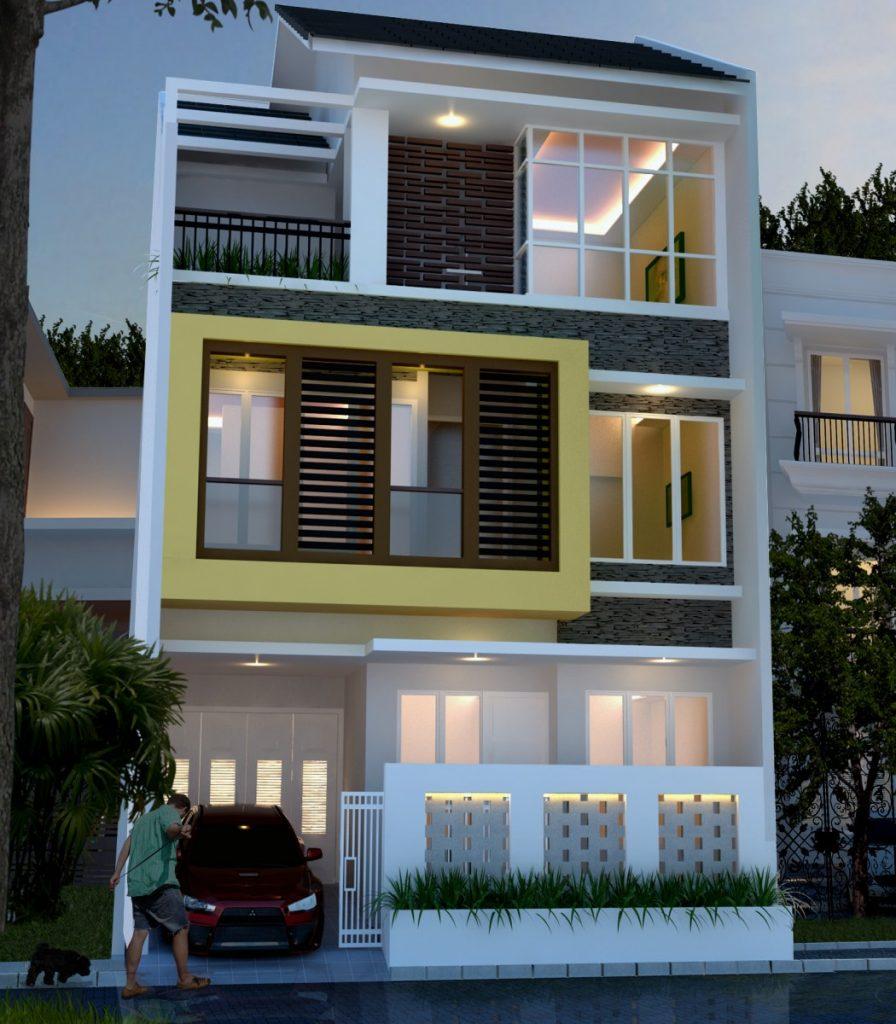 Desain Rumah Minimalis 3 Lantai 8 X 11 M ~ Desain Rumah Online