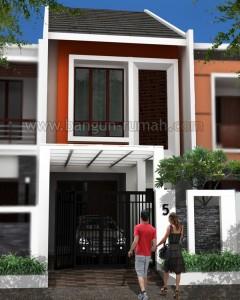 desain rumah 2 lantai di lahan 5 x 20 m2 ~ desain rumah online