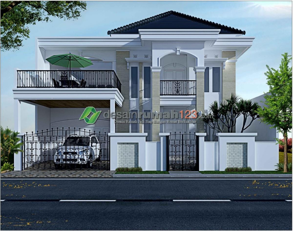Desain Rumah Mewah Dan Elegan 2 Lantai Di Lahan 15 X 25 M2 Desain rumah elegan dan mewah