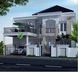 desain rumah mewah dan elegan 2 lantai di lahan 15 x 25 m2