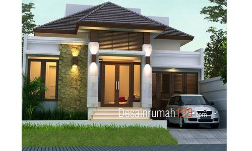 Desain Rumah 1 Lantai Bergaya Tropis Di Lahan 10 X 20 M2 Desain