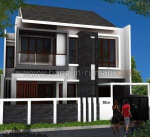 denah rumah minimalis 2 lantai di lahan 10 x 16 m2