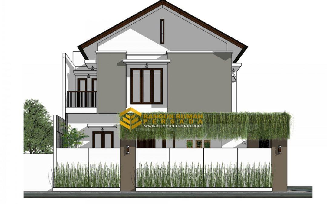 Desain Rumah Hook 2 Lantai Di Lahan 9 x 12 M2 Tiga Kamar Tidur