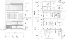 Desain Rumah 8 x 11 M2 Tiga Lantai Ada Roof Garden