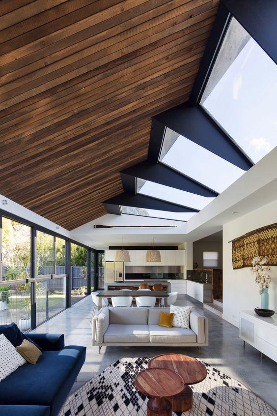 Contoh Gambar Plafon Kayu  55 model plafon kayu terbaru desain rumah online