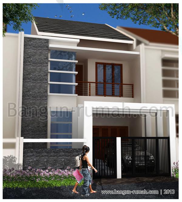 Desain Rumah 2 Lantai di Lahan 7 x 15 M2 ~ Desain Rumah Online