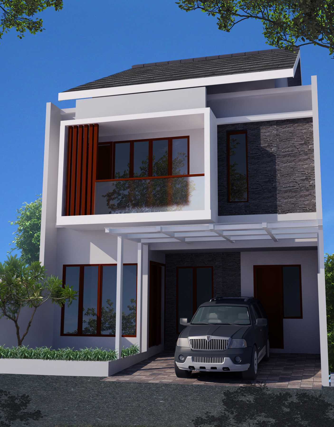 Desain Rumah Minimalis 2 Lantai Di Lahan 8 X 15 M2 Desain Rumah Online