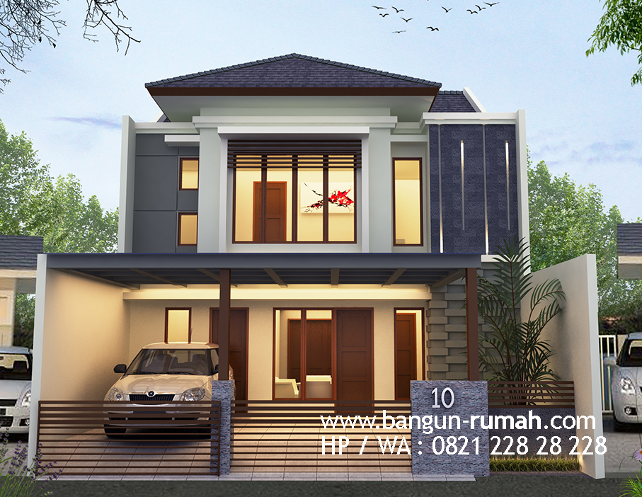 Desain Rumah 2 Lantai 9 X 15 M2 - Desain Rumah Bekasi